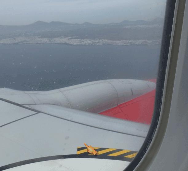 Landung auf Lanzarote