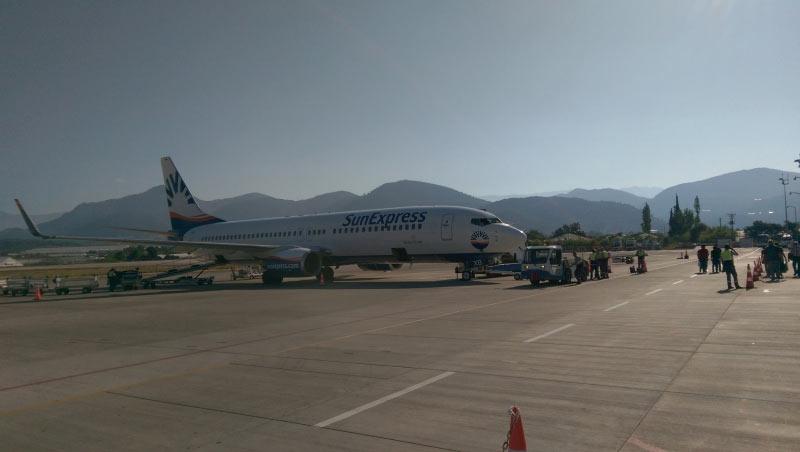 Boeing vor dem Rückflug