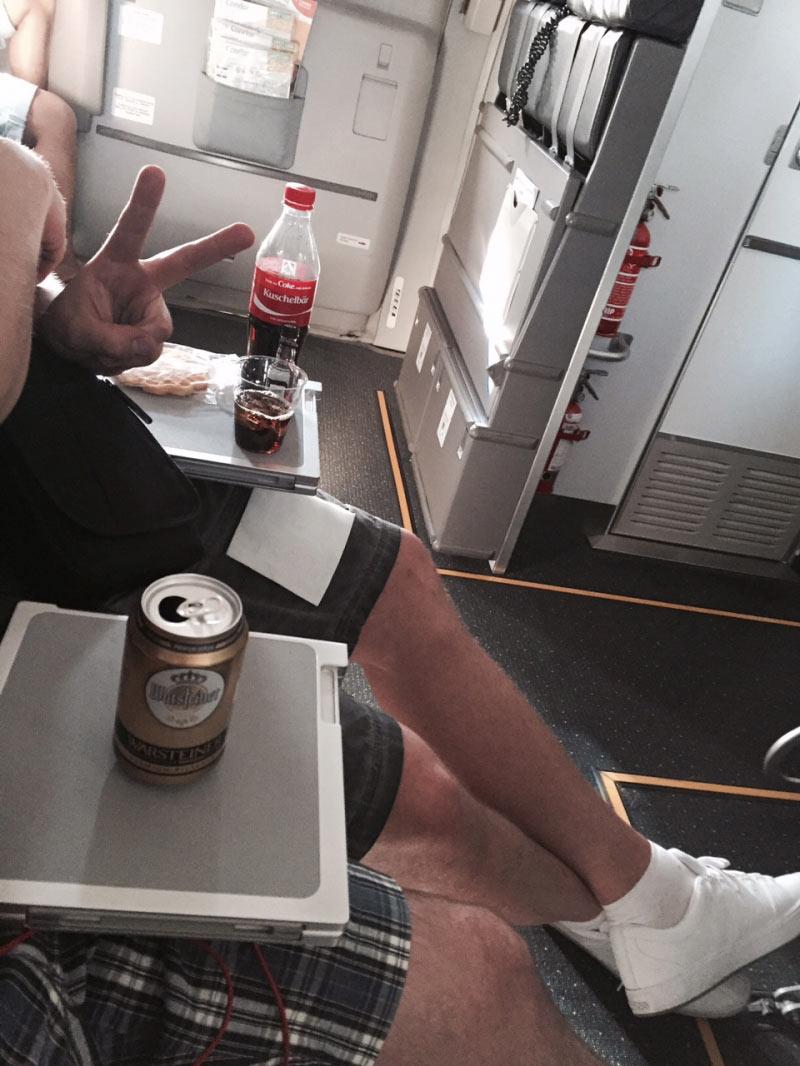 Reihe 11 in der Boeing 757-300 von Condor ... was will man mehr?