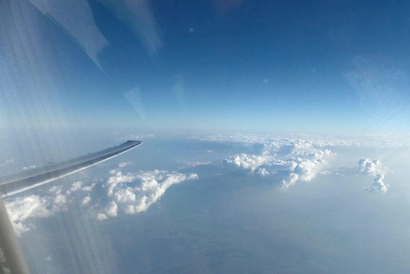 Auf dem Rückflug am 30.08.2015