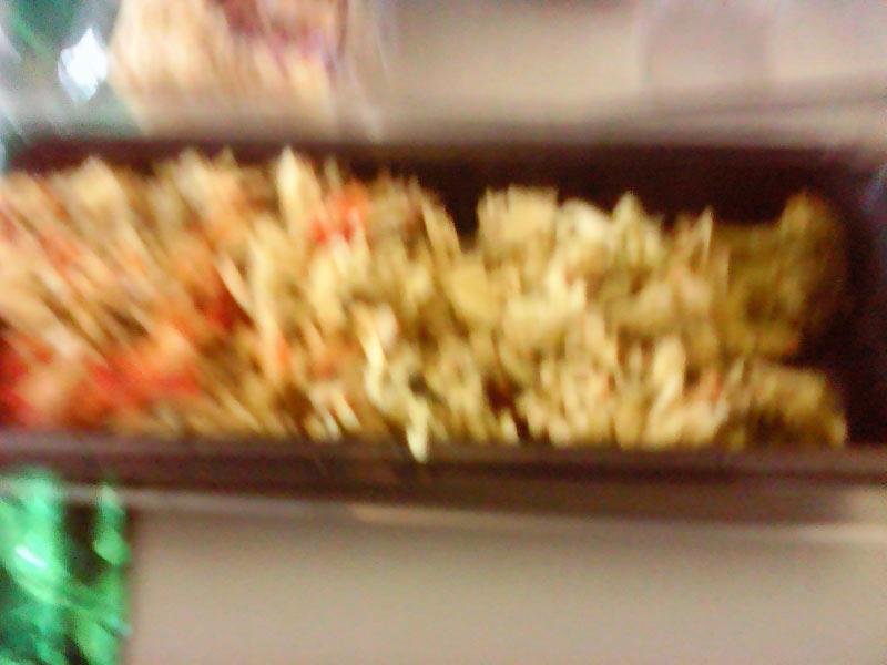 Reisnudeln mit drei kleine St�ckchen Brokolli an vertrockneter Tomatensosse, die man suchen konnte. Der Aufpreis f�r perfect leistung waren 80,00 ?,