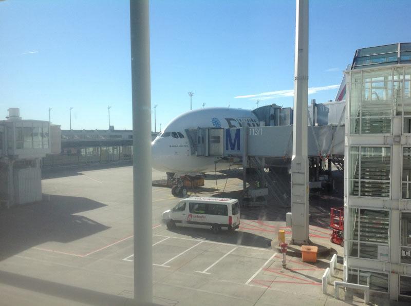 Am Gate. A380 Emirates