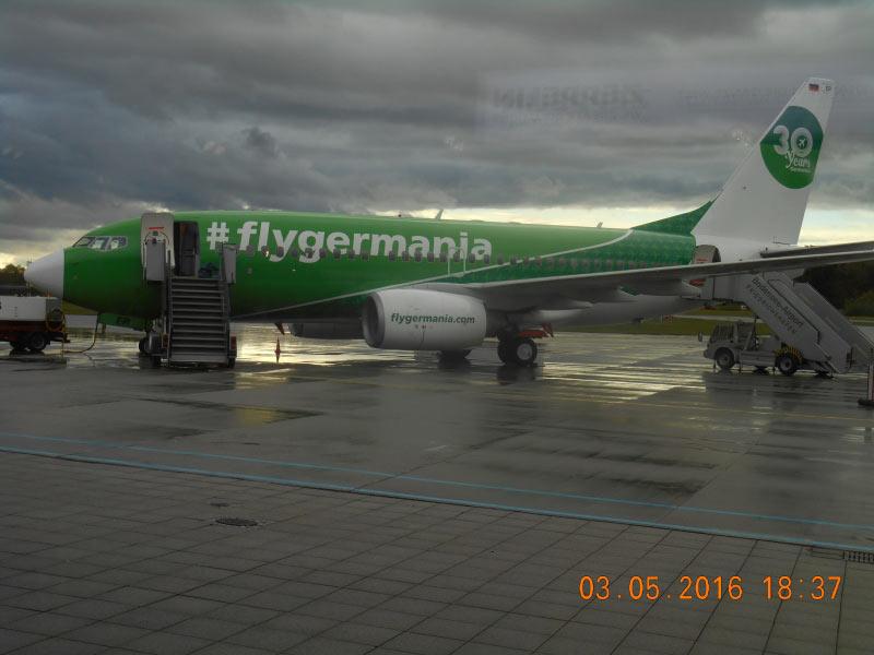 nach der Landung in Friedrichshafen