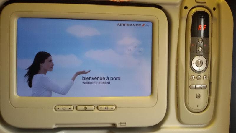 So sah bei unserer Maschine das In-Flight Entertainment  aus