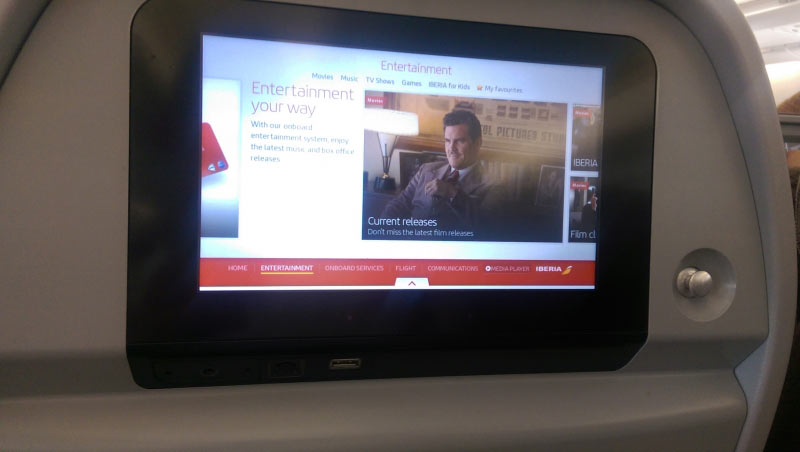 In-Flight-Entertainent auf Langstrecke inklusive