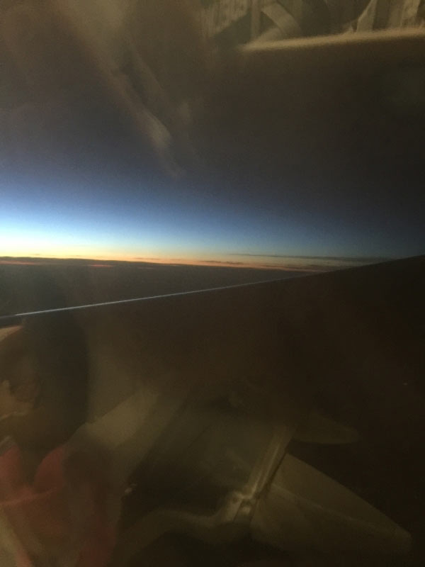Dem Sonnenuntergang entgegen