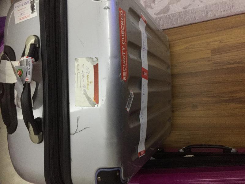 Das ist der Koffer was wir am M�nchner Flughafen bei Sun express abgegeben haben der nach 4 Tagen ankam nach 54 Telefonaten mit Flughafen M�nchen Flughafen Antalya und Flughafen ?stanbul