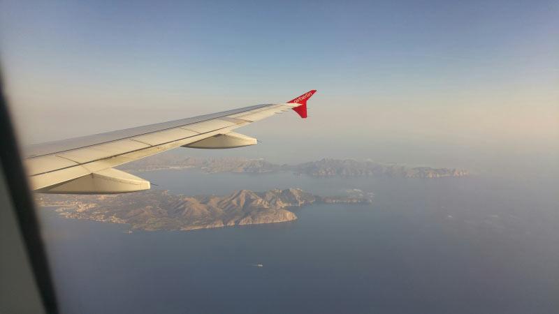 Anflug auf Palma mit Inselblick am Morgen :-)