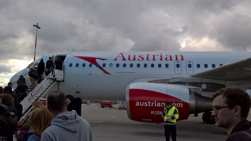 Austrian - operated by Air Berlin