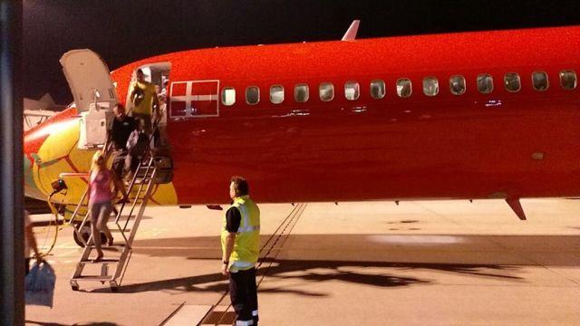Das war der R�ckflug mit der MD83 einer d�nischen Airline. Eigentlich hatten wir Corendon gebucht. Ersatz