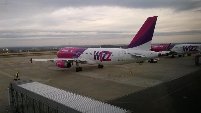 Unsere Maschine bei der Ankunft in Dortmund.