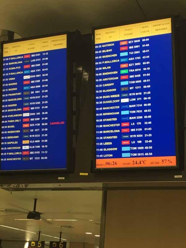 EasyJet ist einziger annullierter Flug wegen Fluglotsen Streik in Marseille (30.6.2018)