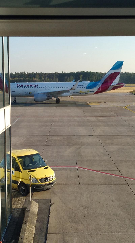 Meine Maschine vob Nbg nach Hamburg