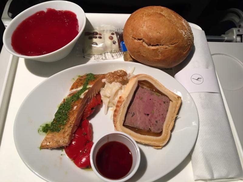 Abendessen DUB-FRA
