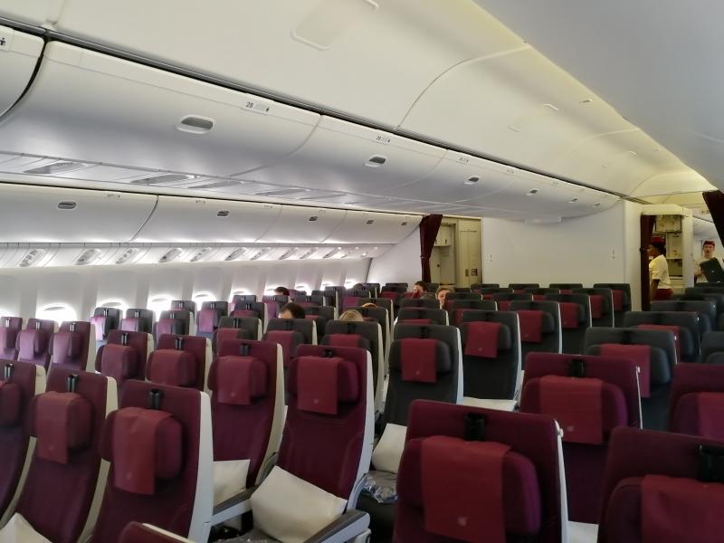 Recht entspanntes Reisen in der Economy ;-)
