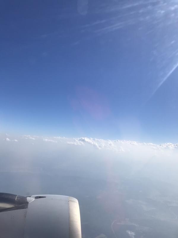 Nach tollem Start und bew�lktem Wetter war dann �ber den Wolken einfach unglaubliche Eindr�cke