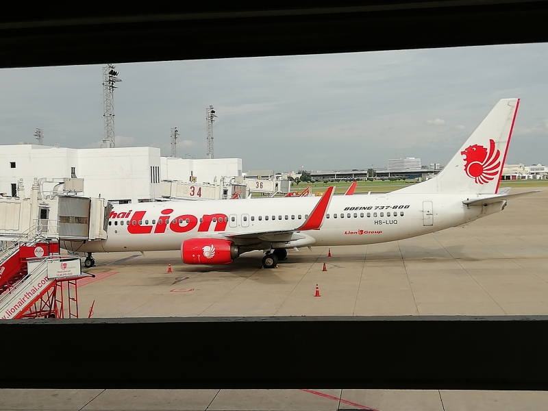 Unsere Maschine kurz nach der Landung in Bangkok Don Mueang.