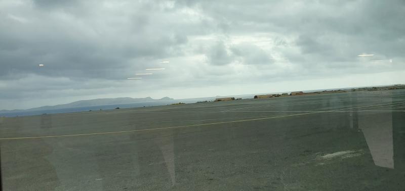 Flughafen Heraklion vor dem Regen und Gewitter
