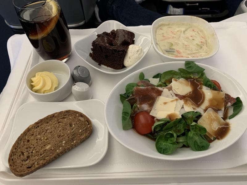 Suppe und Salat