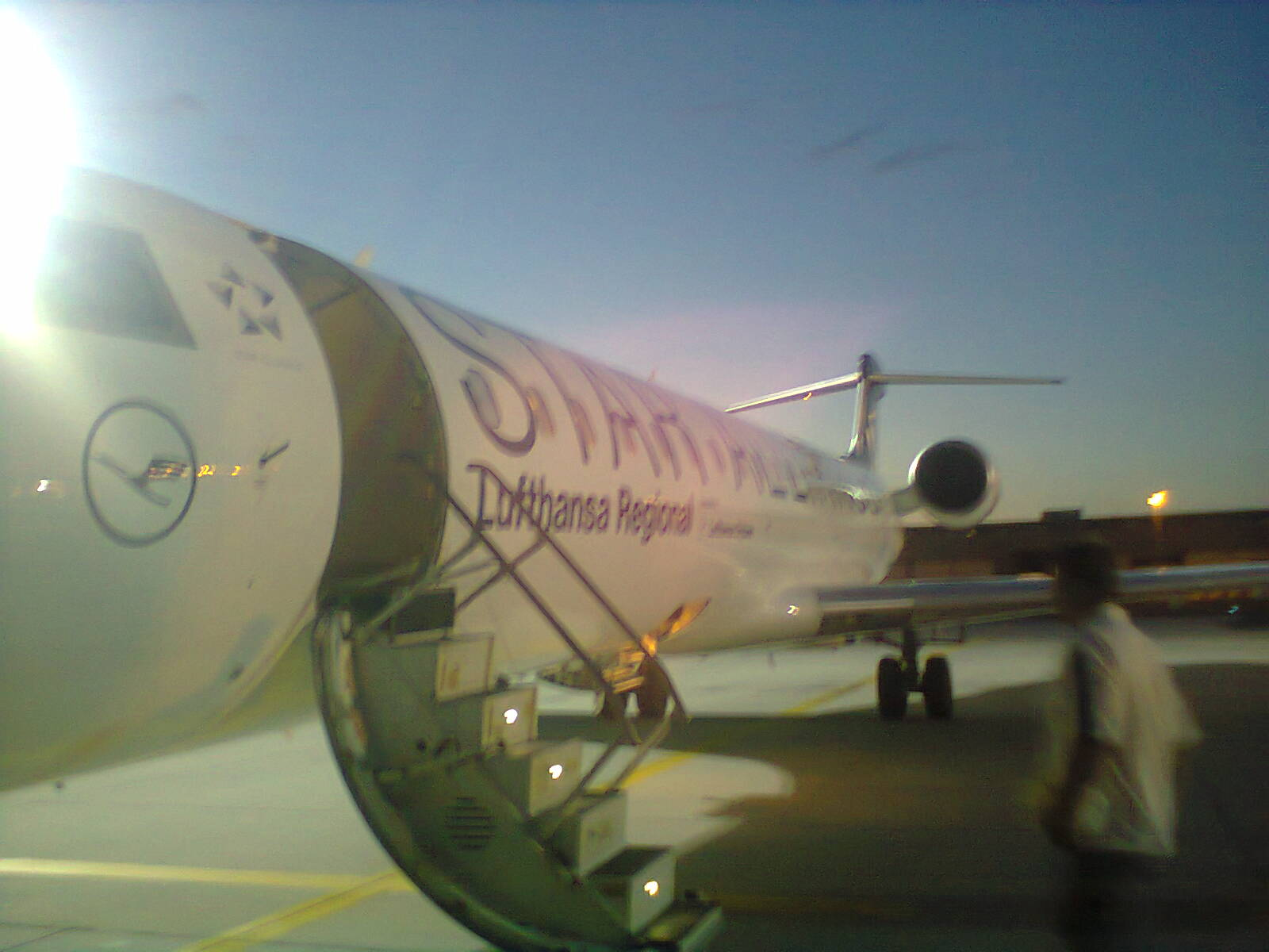 Die CRJ7 in FRA kurz vor Boarding.