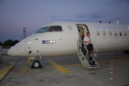 R�ckflug CPH-TXL: LN-RDF Dash 8-400