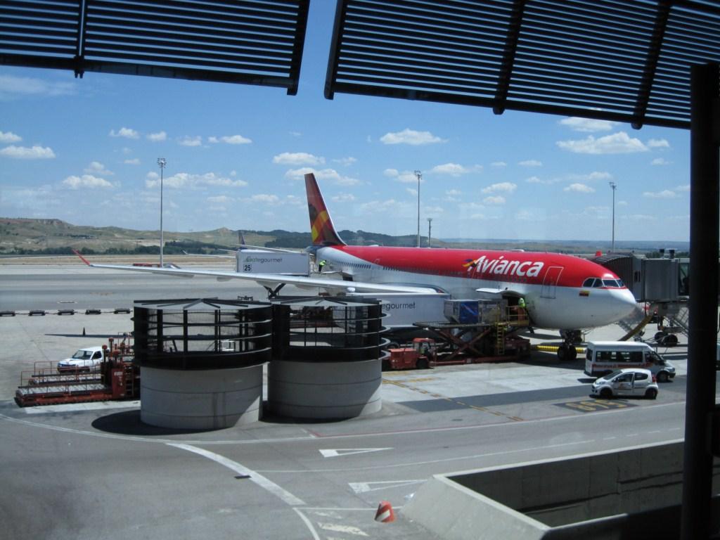 Avianca A330-243 in Madrid/Barajas vor dem Ablug nach Bogota.