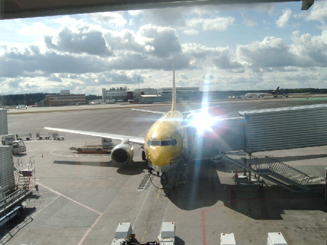 Kurz vor Abflug in Stockholm