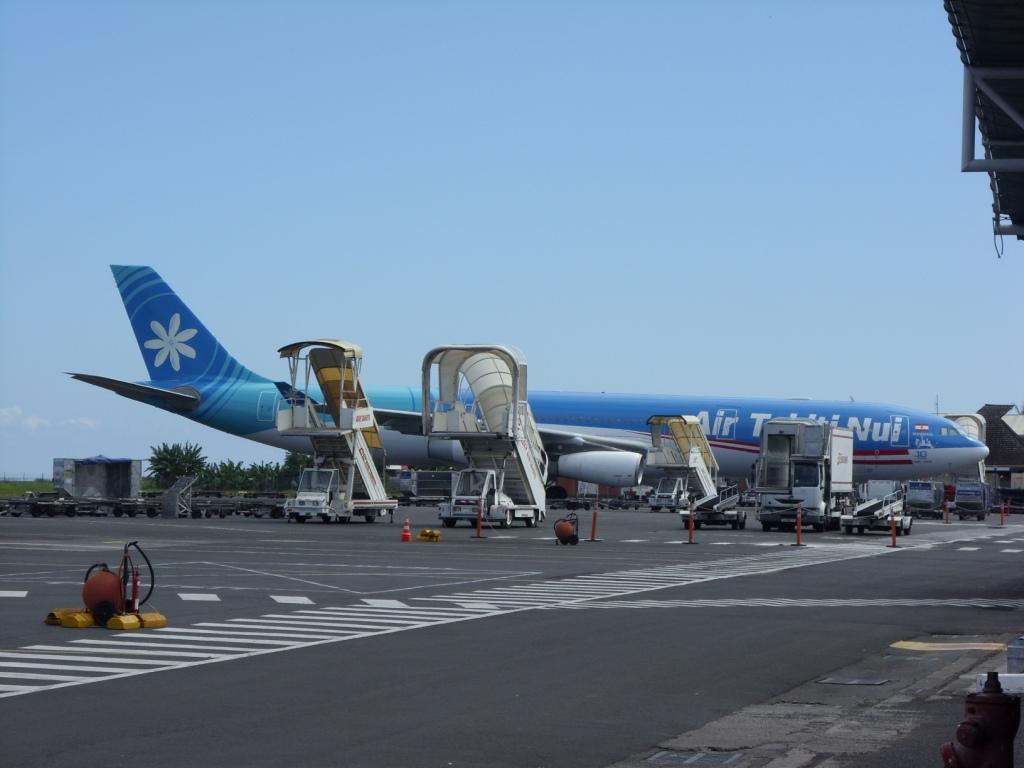 Unsere Maschine für den Heimflug nach Paris