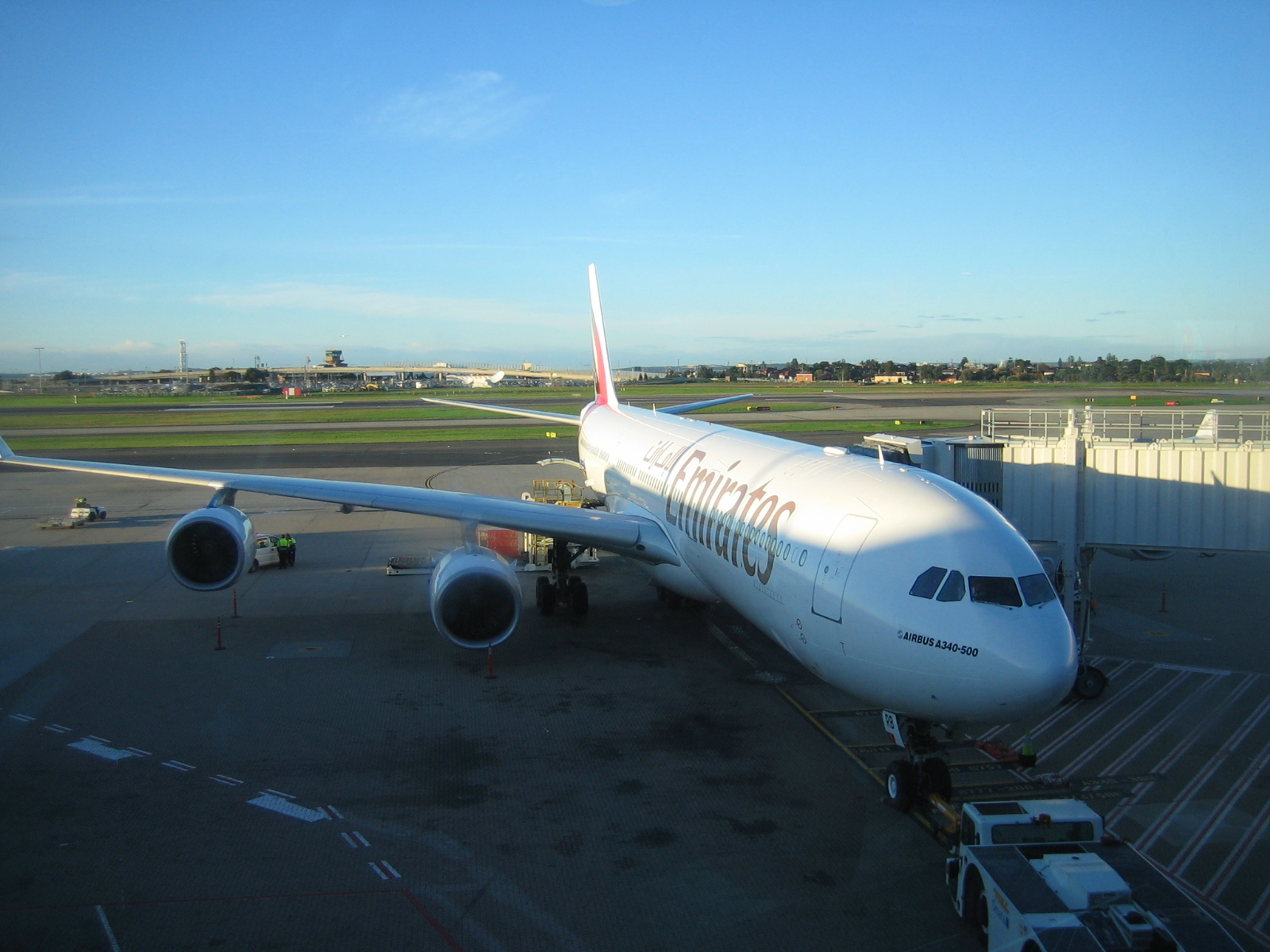 EK A340-500 jet on DXB-SYD route
