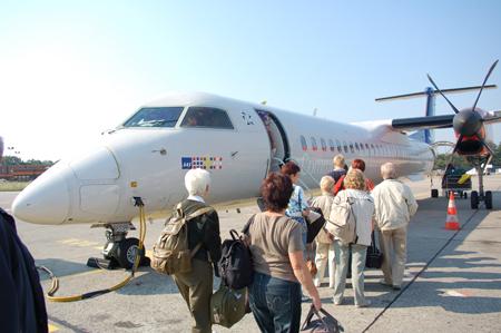 Hinflug TXL-CPH: LN-RDP Dash 8-400