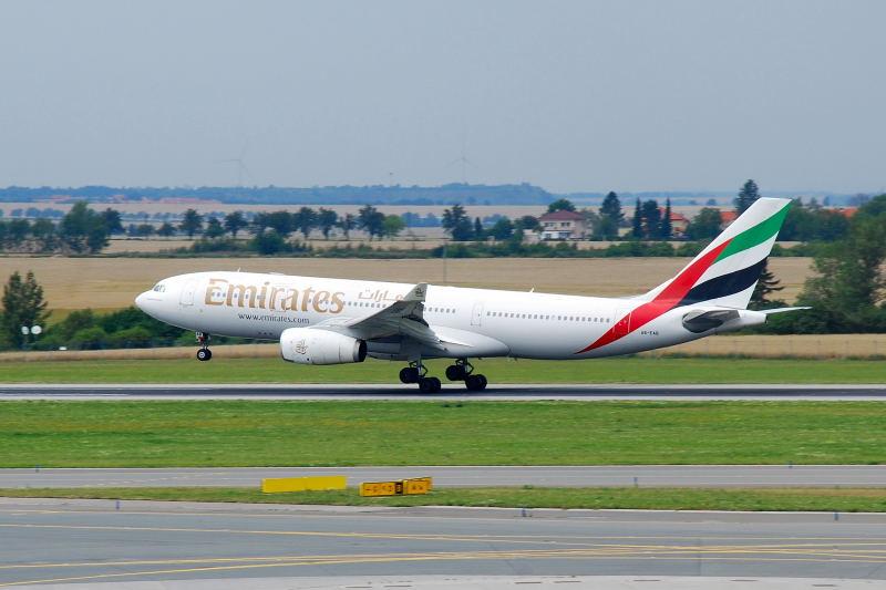 A330-200 (A6-EAB) Landung in PRG