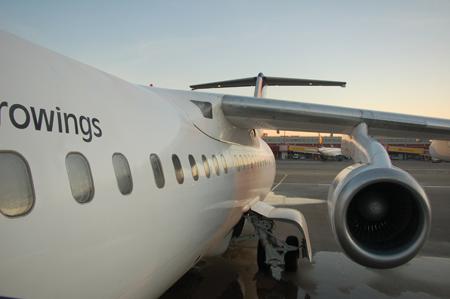 D-AEWM, Flugzeug auf dem Hinflug (opb Eurowings)
